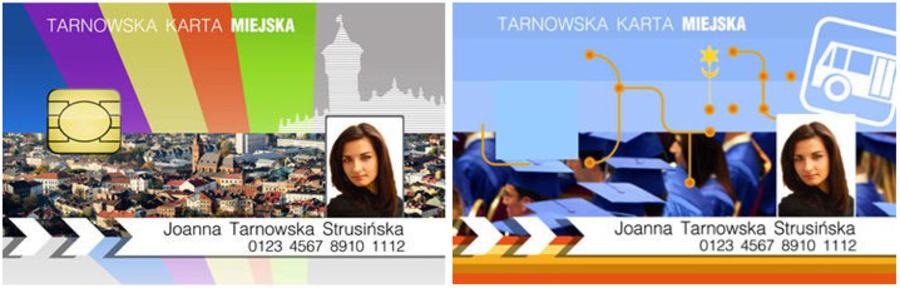 Wzór tarnowskich kart miejskich wersja PREMIUM / STANDARD