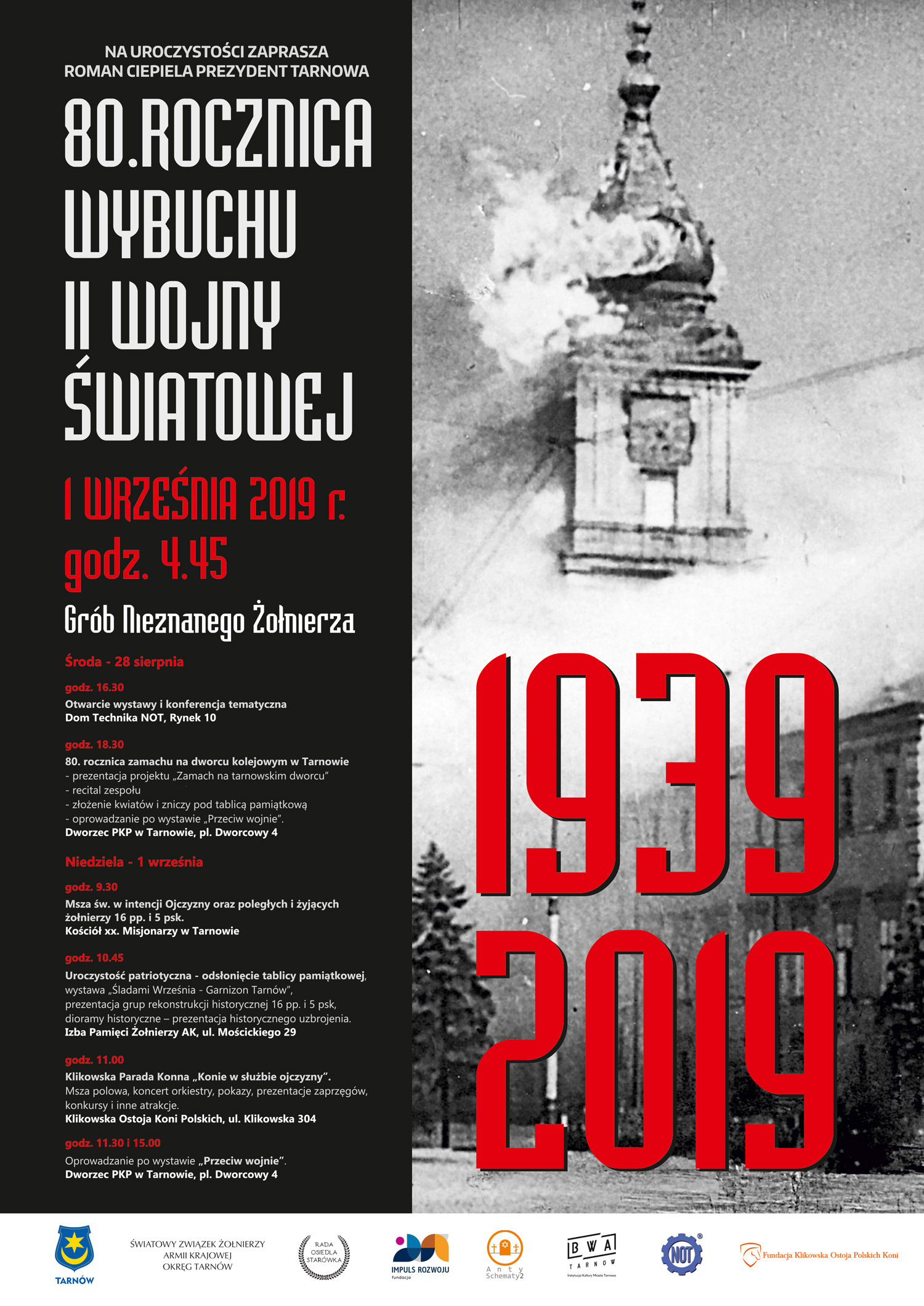 80 Rocznica Wybuchu Ii Wojny światowej Tarnów Polski