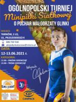Plakat Ogólnopolskiego Turnieju Minipiłki Siatkowej Małgorzaty Glinki