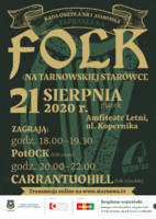 "Plakat koncertu ""Folk na tarnowskiej Starówce"""