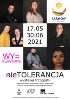 plakat promujący wystawę nieTolerancja