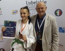 Nina Hynek i jej trener Bogusław Kocik