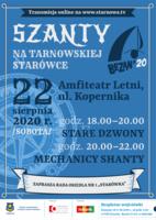 """Plakat koncertu """"Szanty na tarnowskiej Starówce"""""""