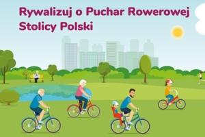 Plakat akcji Puchar Rowerowej Stolicy Polski