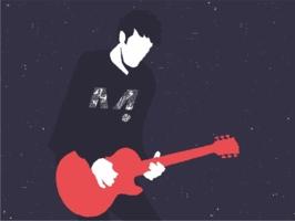 Grafika z gitarą