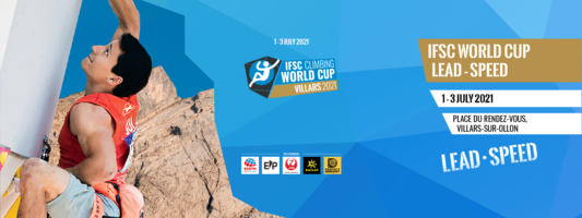Plakat zawodów Pucharu Świata we wspinaczce sportowej w Villars