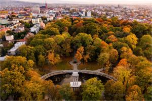 Jesienno - wieczorny Park Strzelecki