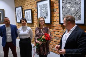 """Galeria Bema 20 - wernisaż wystawy Joanny Małeckiej ,,Labirynty wyobraźni"""""""