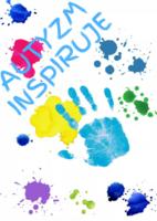 """Plakat do wystawy """"Autyzm inspiruje"""""""