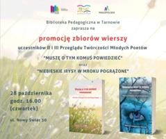 plakat biblioteka pedagogiczna, promocja wierszy