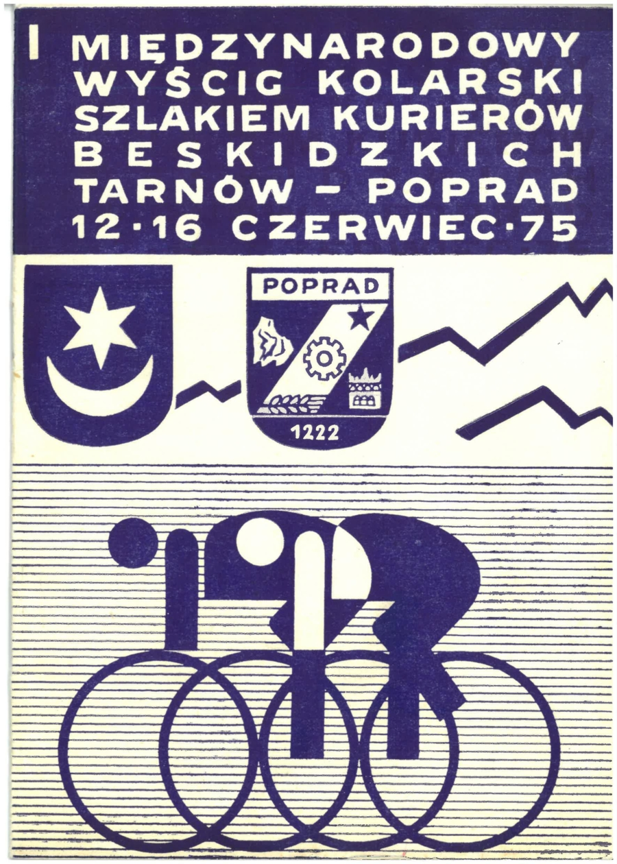 Plakat I Międzynarodowego Wyścigu Szlakiem Kurierów Beskidzkich