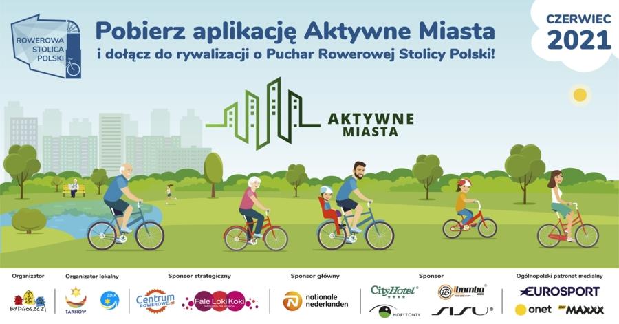 Plakat rywalizacji o Puchar Rowerowej Stolicy Polski