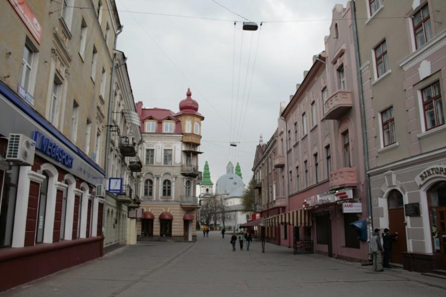 Ulica w Tarnopolu