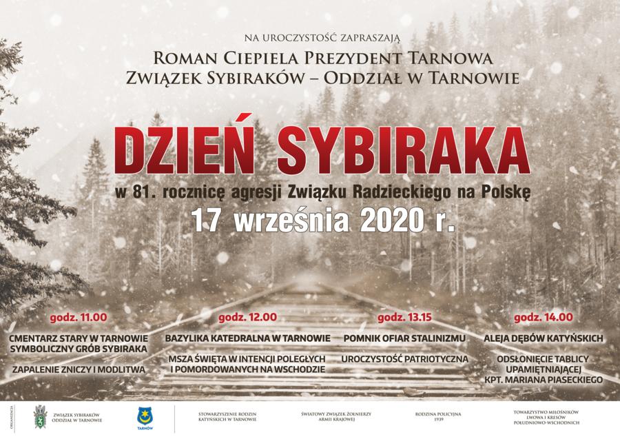 Zaproszenie na obchody Dnia Sybiraka plakat