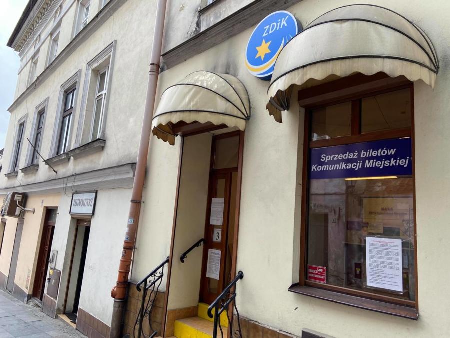 Kasa biletowa Zarządu Dróg i Komunikacji w Tarnowie